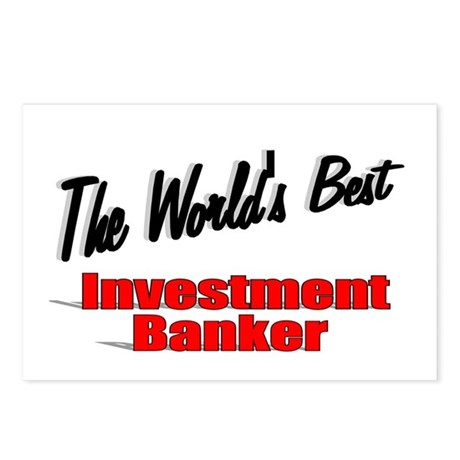 """The World's Best Investment Banker"" Postcards (Pa"
