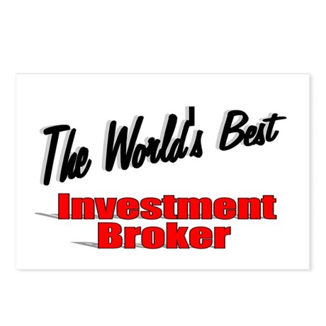 """The World's Best Investment Broker"" Postcards (Pa"