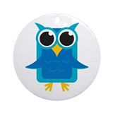 Blue Owl Ornament (Round)