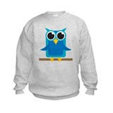 Blue Owl on Branch Sweatshirt