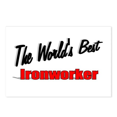 """The World's Best Ironworker"" Postcards (Package o"