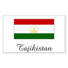Tajikistan Flag Rectangle Decal