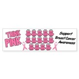Pink Frogs 3 Bumper Bumper Sticker