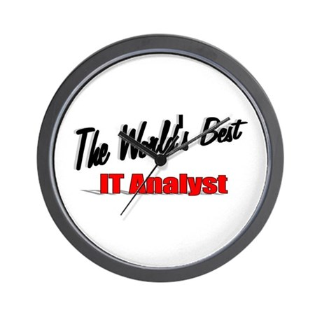 """The World's Best IT Analyst"" Wall Clock"