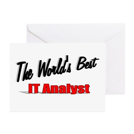 """The World's Best IT Analyst"" Greeting Cards (Pk o"