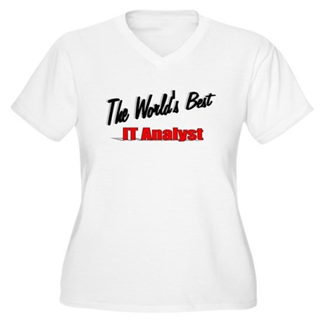 """The World's Best IT Analyst"" Women's Plus Size V-"