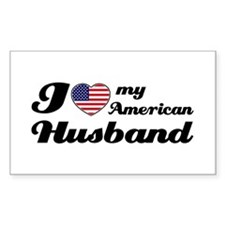 I love my American Husband Rectangle Decal
