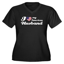 I love my American Husband Women's Plus Size V-Nec
