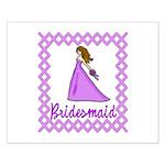 Lilac Bridesmaid Small Poster