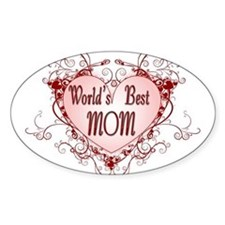World's Best Mom Mothers Day Oval Decal