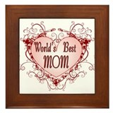 World's Best Mom Mothers Day Framed Tile