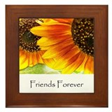 Friends Forever Sunflowers Framed Tile