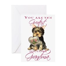 Yorkie Grandma Mother's Day Greeting Card