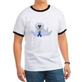 Blue Awareness Ribbon Goofkins Seal T