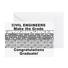 Civil Engineer Graduation Greeting Card
