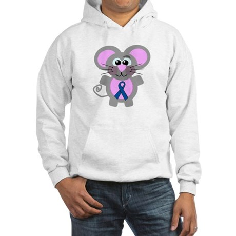 Blue Awareness Ribbon Goofkins Mouse Hooded Sweats