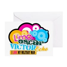 LimaOscarVictoryEcho Military Greeting Card