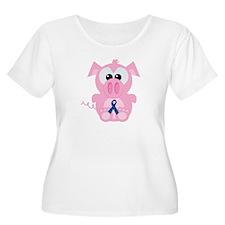 Blue Awareness Ribbon Goofkins Piggy Pig T-Shirt