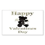 happy valentines day 56 Rectangle Sticker 50 pk)
