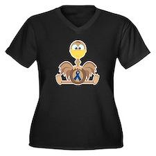 Blue Awareness Ribbon Goofkins Ostrich Women's Plu
