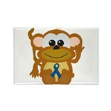 Blue Awareness Ribbon Goofkins Monkey Rectangle Ma