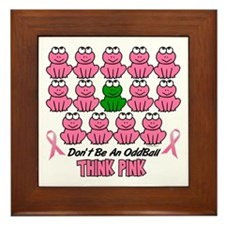Pink Frogs 2 Framed Tile