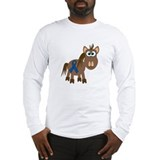 Blue Awareness Ribbon Goofkins Horse Long Sleeve T