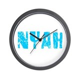 Nyah Faded (Blue) Wall Clock
