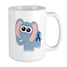 Blue Awareness Ribbon Goofkins Elephant Mug