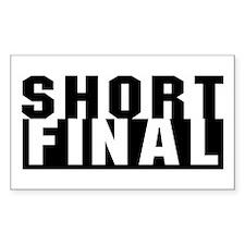 Aviation Short Final Rectangle Decal