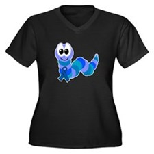 Blue Awareness Ribbon Goofkins Caterpillar Women's