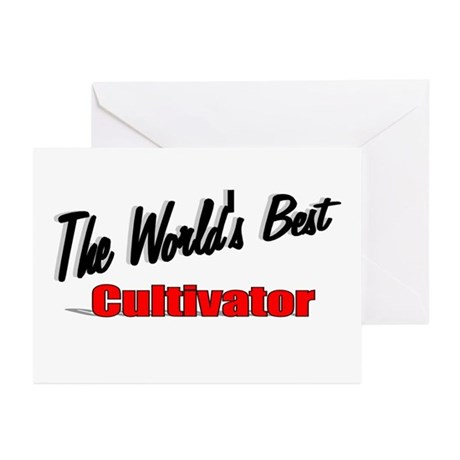 """The World's Best Cultivator"" Greeting Cards (Pk o"