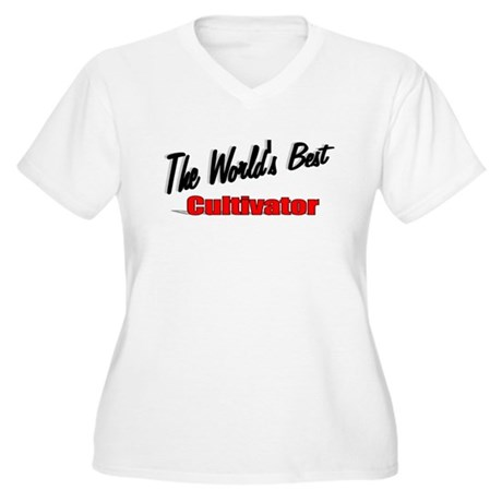 """The World's Best Cultivator"" Women's Plus Size V-"