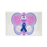 Blue Awareness Ribbon Goofkins Butterfly Rectangle