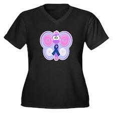 Blue Awareness Ribbon Goofkins Butterfly Women's P