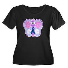 Blue Awareness Ribbon Goofkins Butterfly T