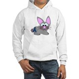 Blue Awareness Ribbon Goofkins Bunny Rabbit Jumper Hoody