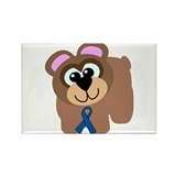 Blue Awareness Ribbon Goofkins Bear Rectangle Magn