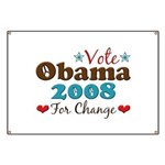 Vote Obama 2008 For Change Banner