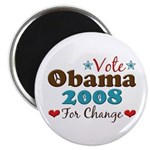 Vote Obama 2008 For Change Magnet