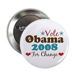 Vote Obama 2008 For Change 2.25