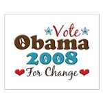 Vote Obama 2008 For Change Small Poster