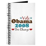 Vote Obama 2008 For Change Journal