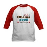 Vote Obama 2008 For Change Kids Baseball Jersey