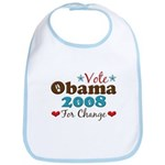 Vote Obama 2008 For Change Bib