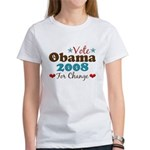 Vote Obama 2008 For Change Women's T-Shirt