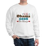 Vote Obama 2008 For Change Sweatshirt