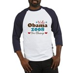 Vote Obama 2008 For Change Baseball Jersey