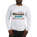 Vote Obama 2008 For Change Long Sleeve T-Shirt