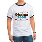 Vote Obama 2008 For Change Ringer T